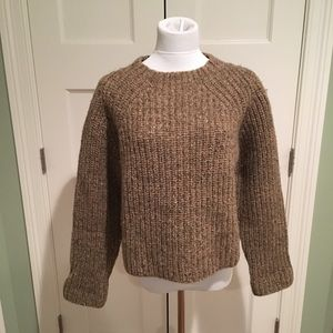 Abercrombie & Fitch L/S Brown  Wool Chunky Sweater
